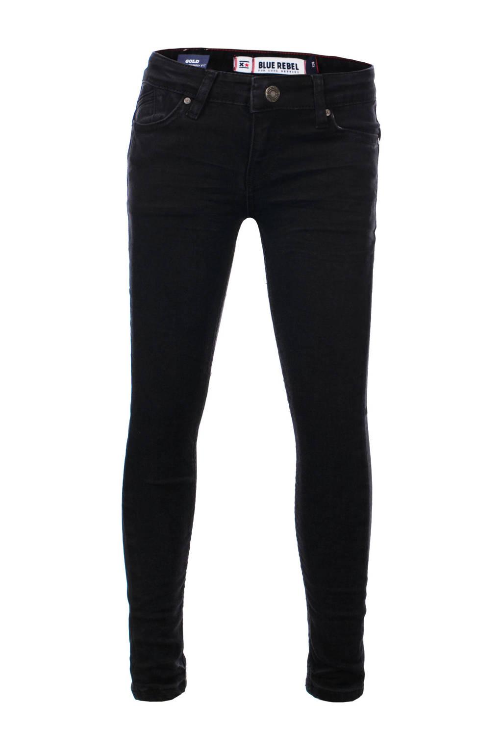 Blue Rebel super skinny jeans Gold zwart, Zwart