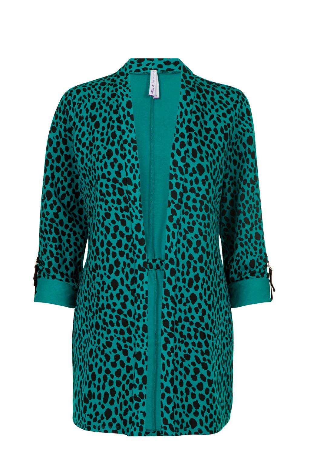 Miss Etam Regulier vest met all over print groen, Groen