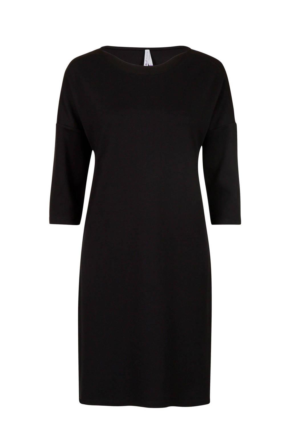 Miss Etam Regulier jersey jurk zwart, Zwart
