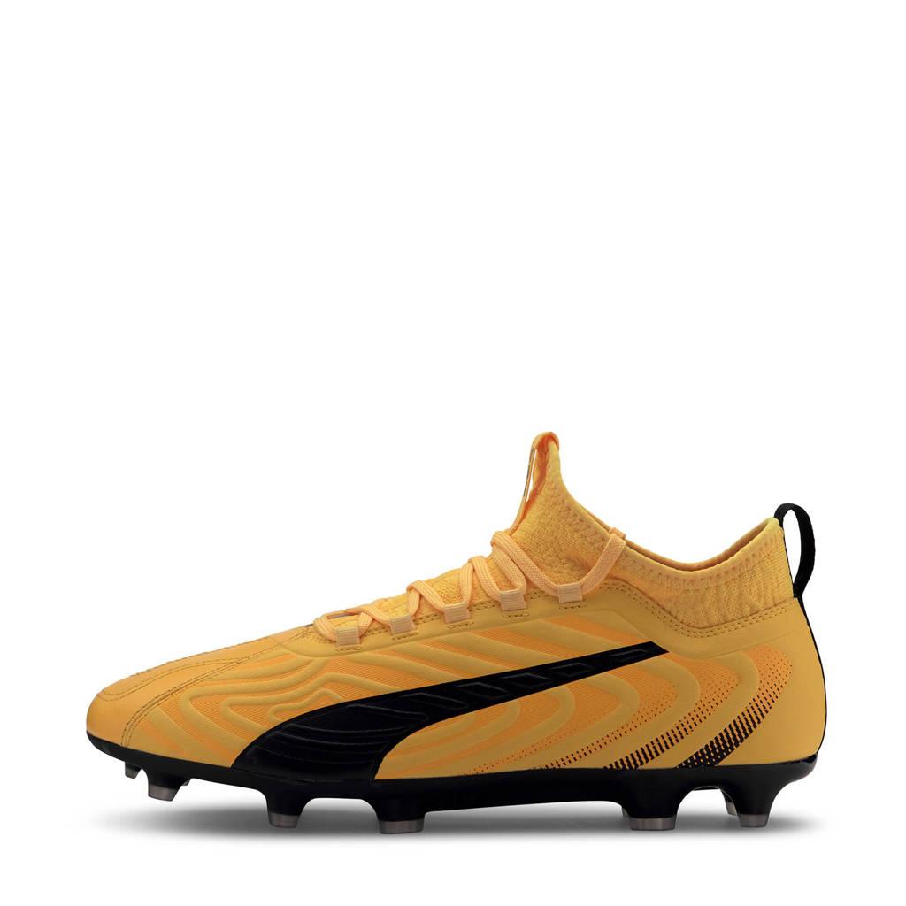 Puma One 20.3 FG/AG voetbalschoenen geel/zwart, Geel/zwart