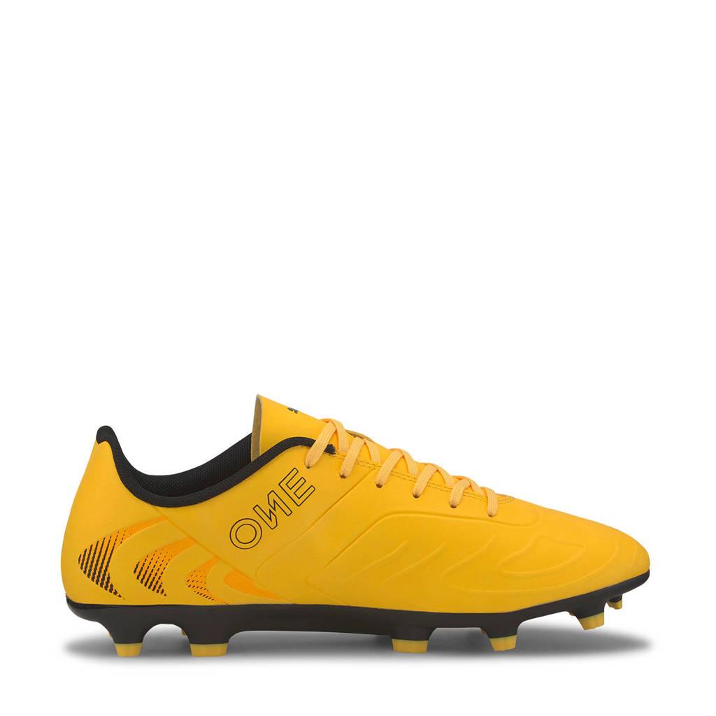 Puma One 20.4 FG/AG voetbalschoenen geel/zwart, Geel/zwart
