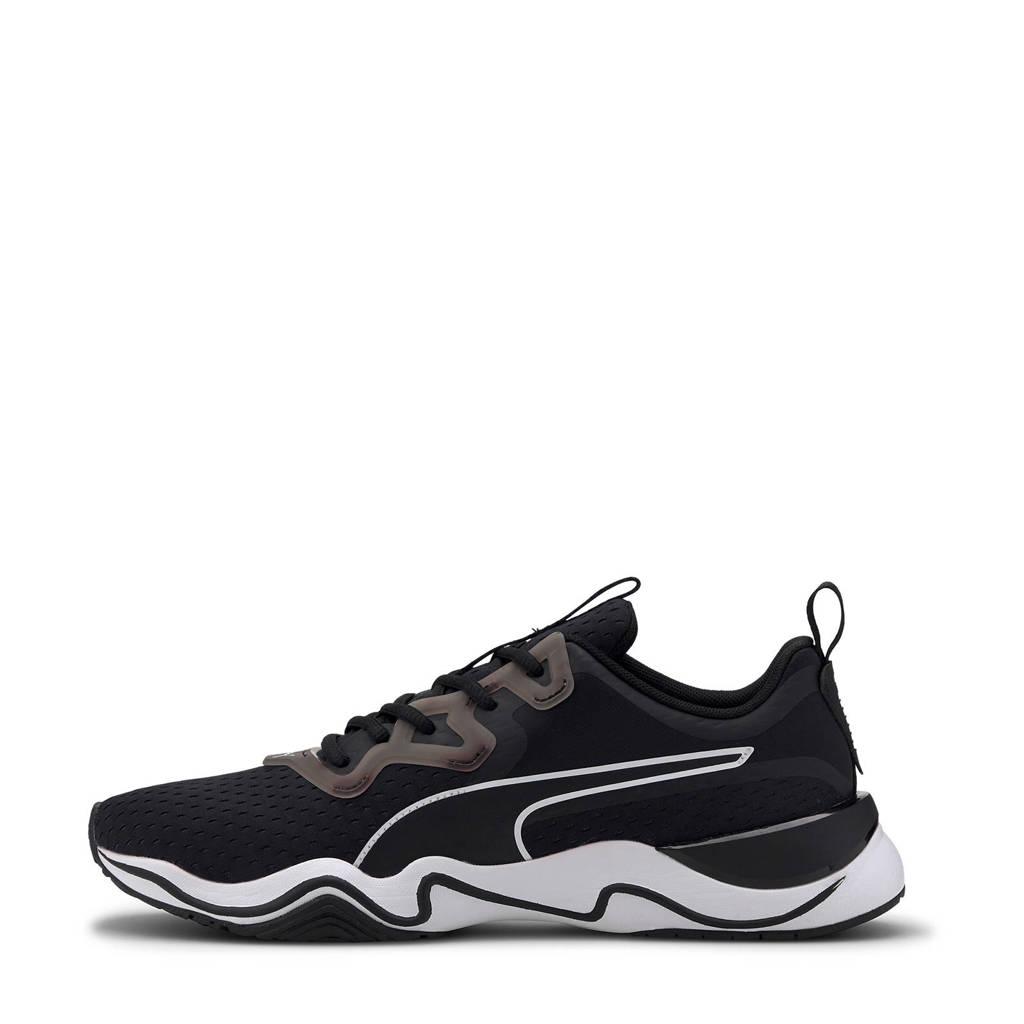 Puma Zone XT Knit fitness schoenen zwart/wit/grijs, Zwart/wit/grijs
