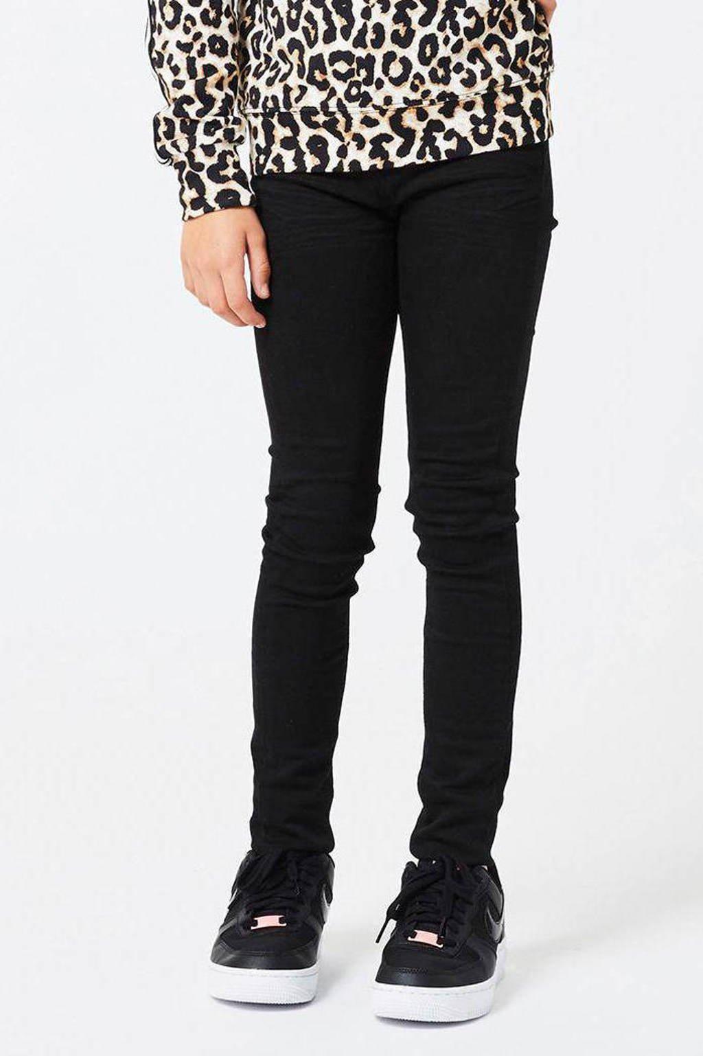 CoolCat Junior skinny jeans Kate zwart, Zwart