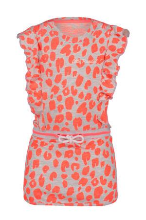 jersey jurk met all over print roze