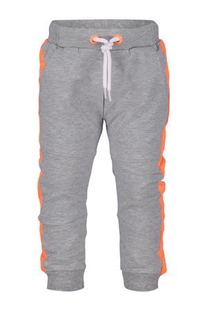 regular fit joggingbroek grijs/oranje