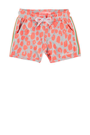 regular fit short met all over print roze