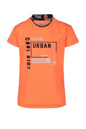 T-shirt met printopdruk oranje