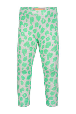 legging met all over print lichtgroen