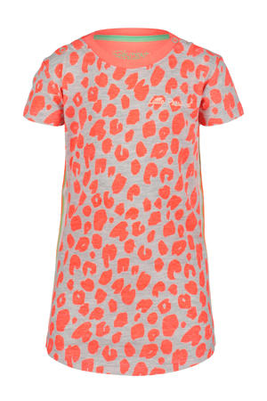 jersey jurk met all over print roze