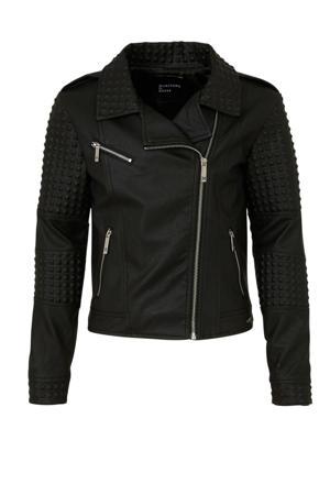 imitatieleren jas by Marciano met textuur zwart