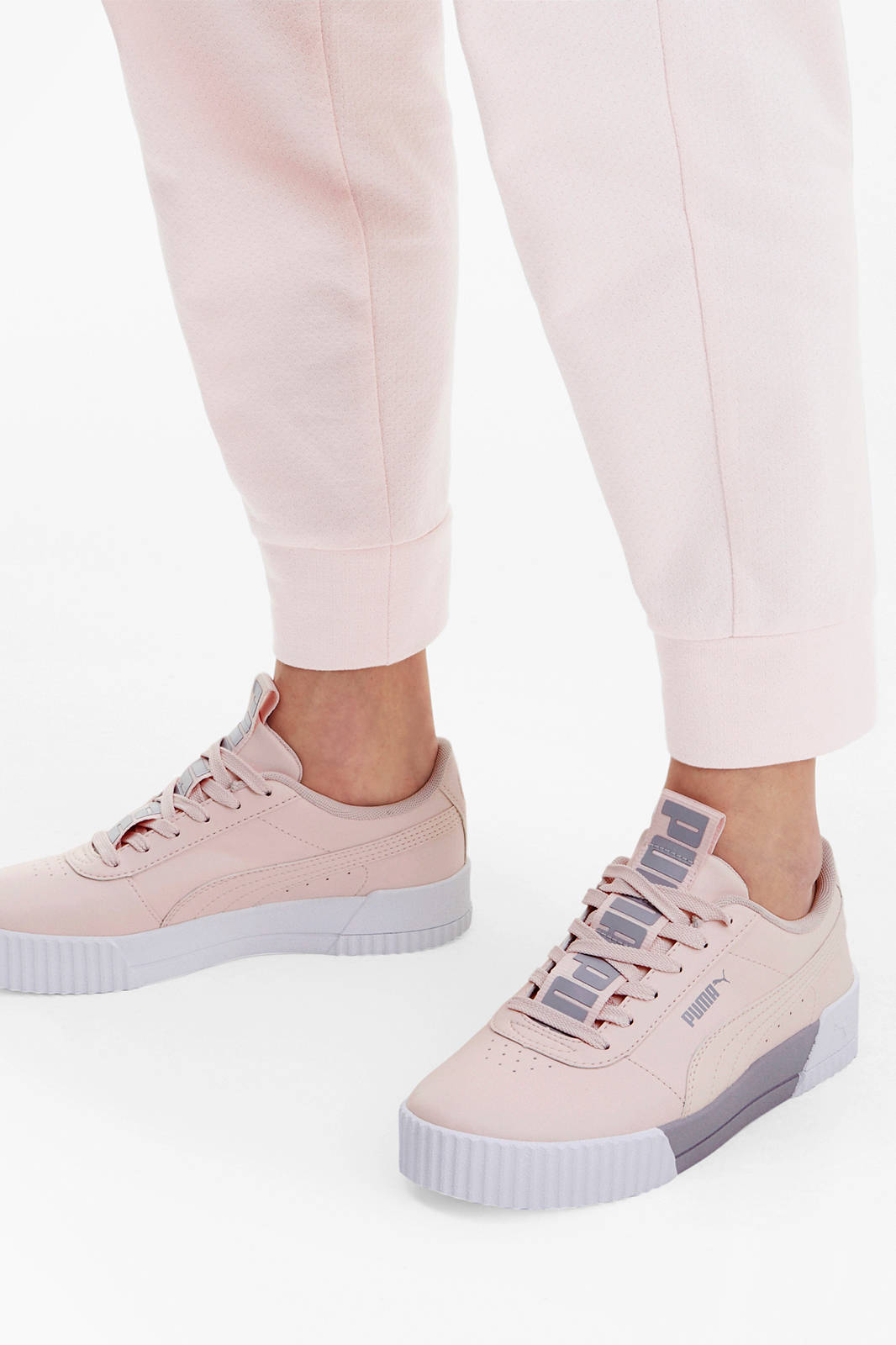Puma Carina Bold sneakers lichtroze | wehkamp