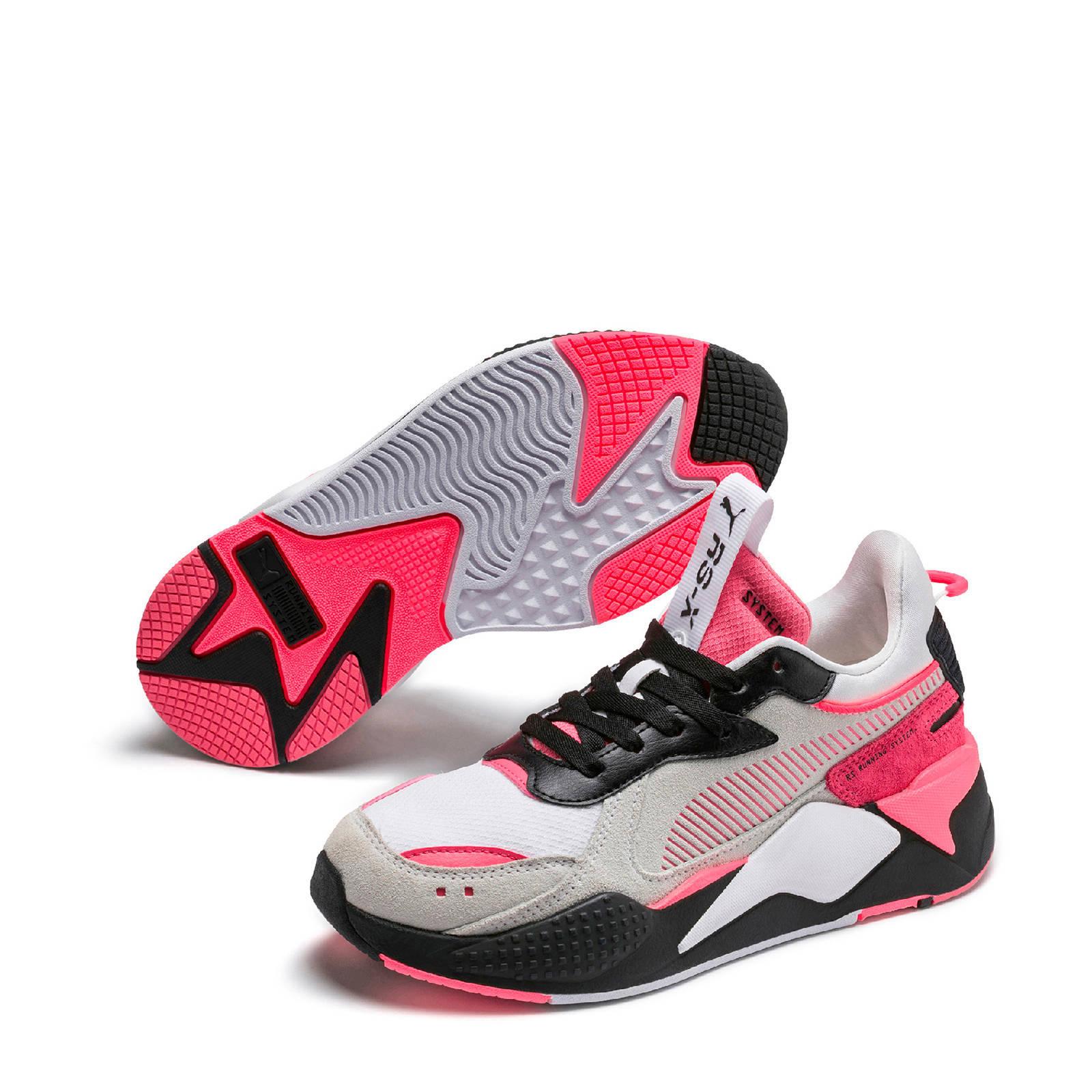 Puma RS-X Reinvent sneakers wit/roze/grijs | wehkamp