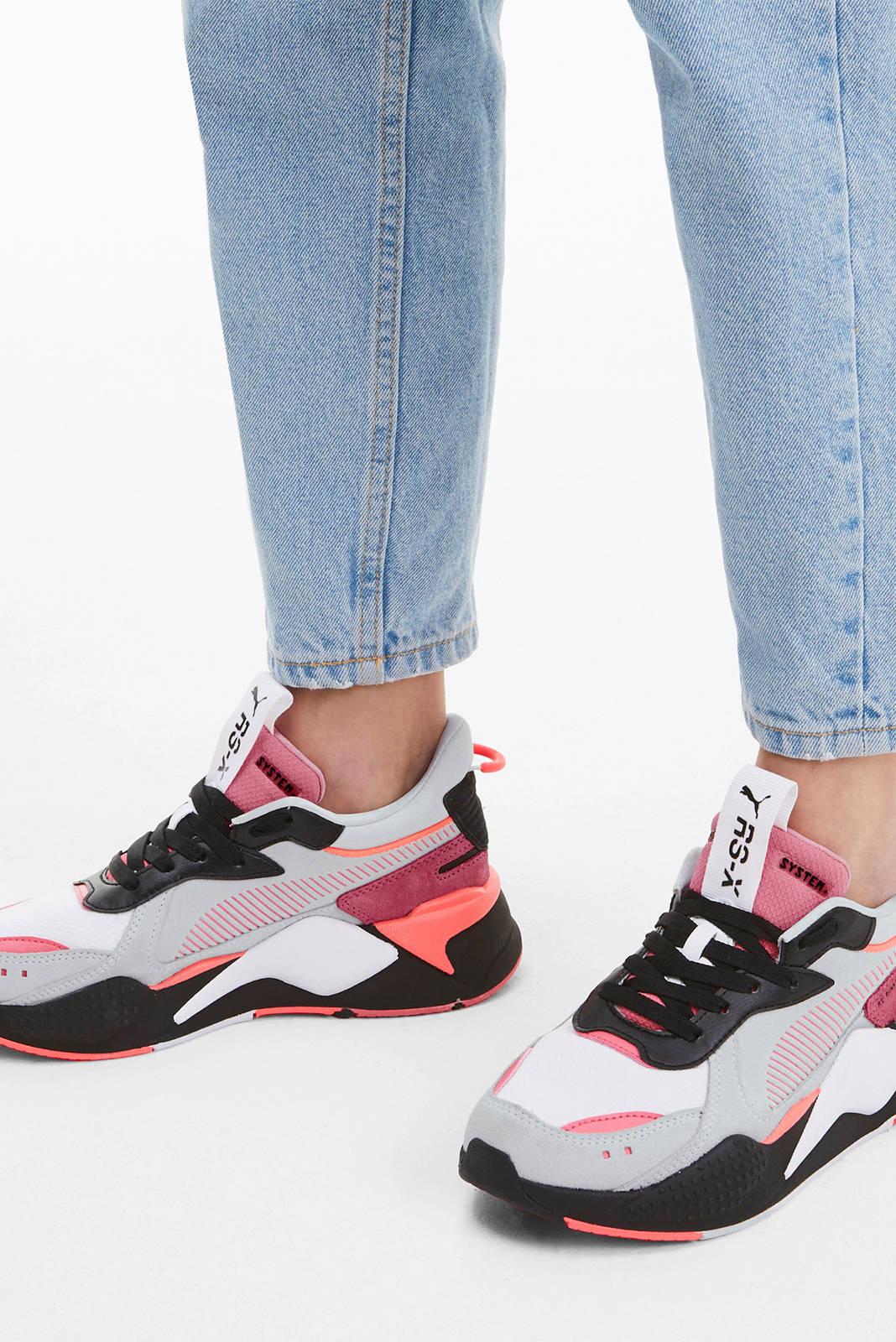 Puma RS-X Reinvent sneakers wit/roze/grijs   wehkamp