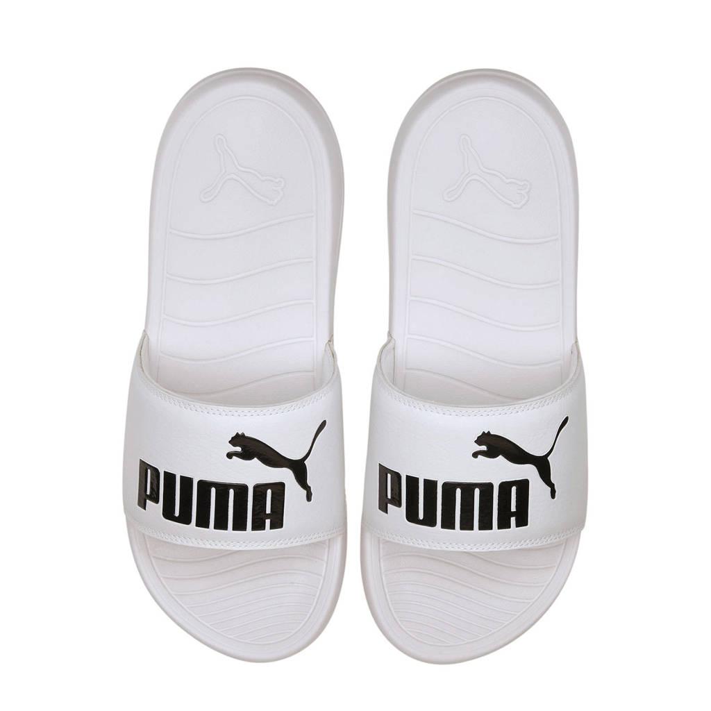 Puma Popcat 20  badslippers wit/zwart, Wit/zwart