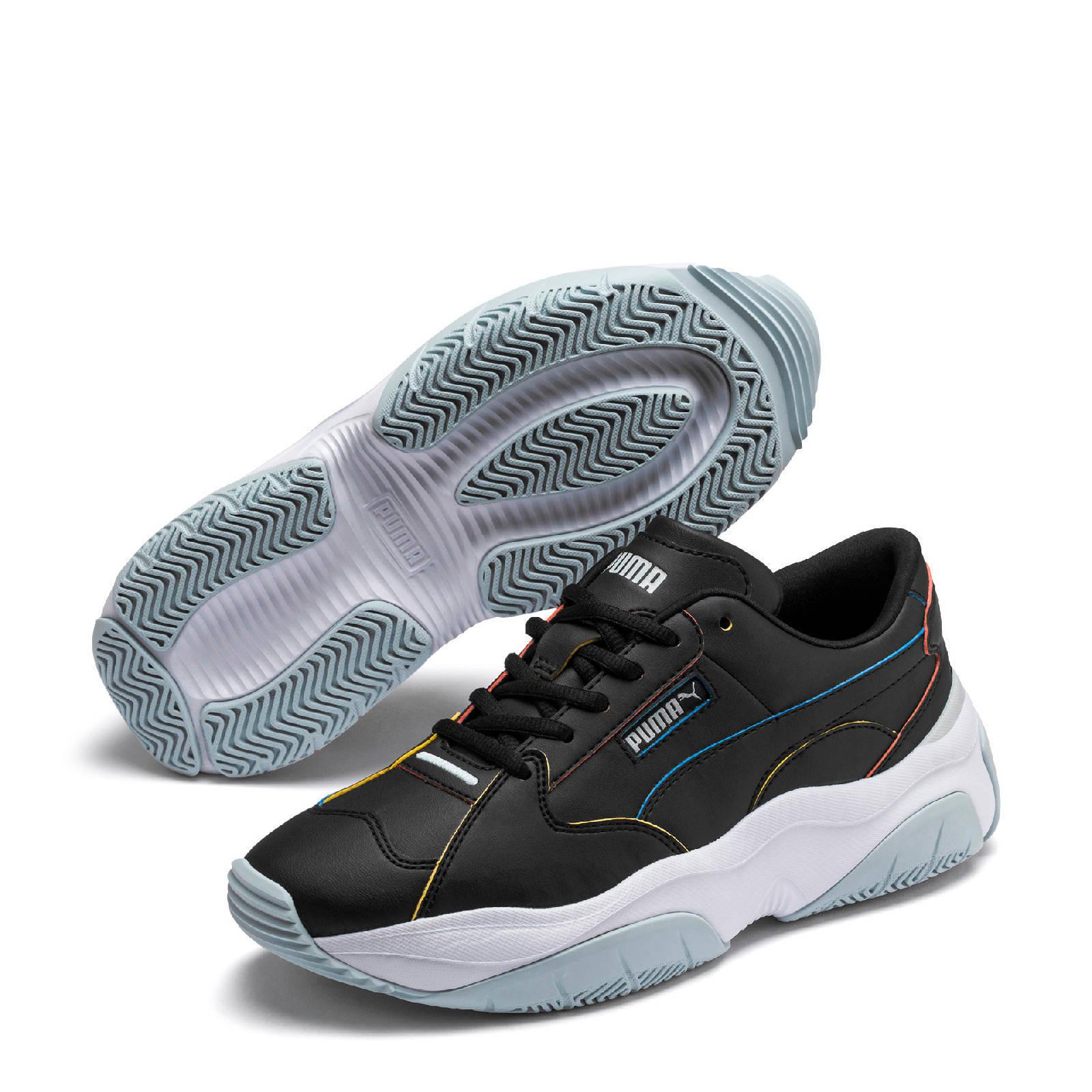 Puma STORM.Y Pop leren chunky sneakers zwart | wehkamp