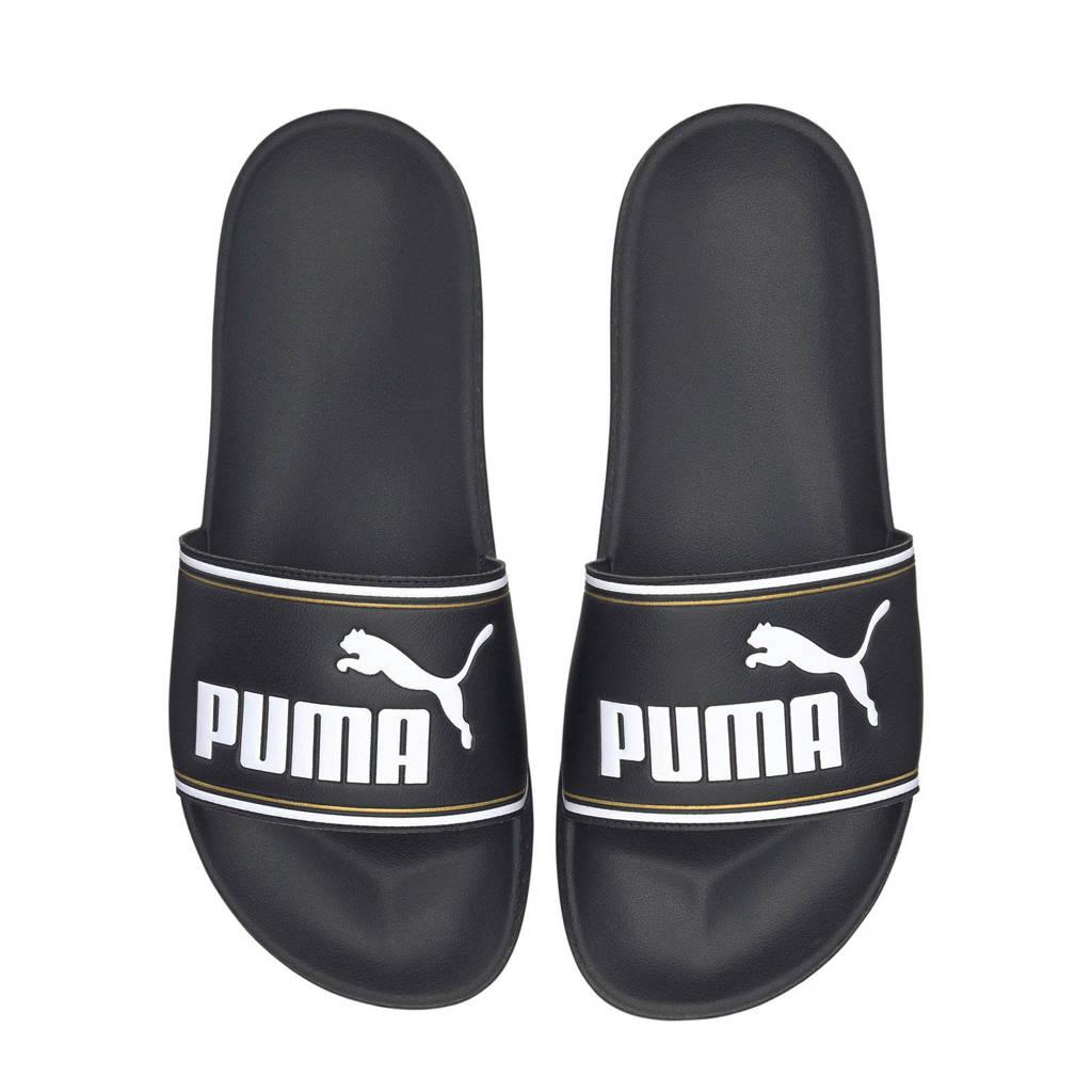 Puma Leadcat  badslippers lichtroze, Zwart/wit