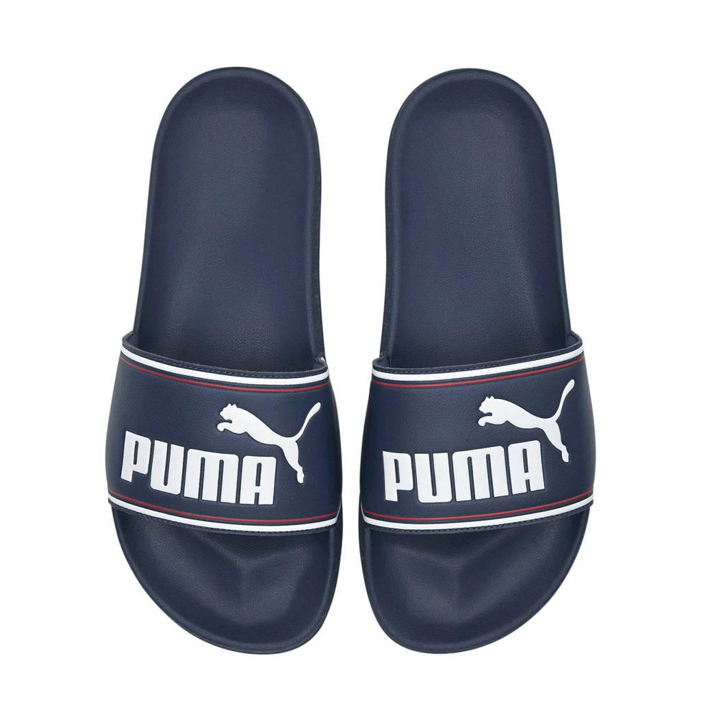 Puma Leadcat  badslippers donkerblauw/wit, Donkerblauw/wit