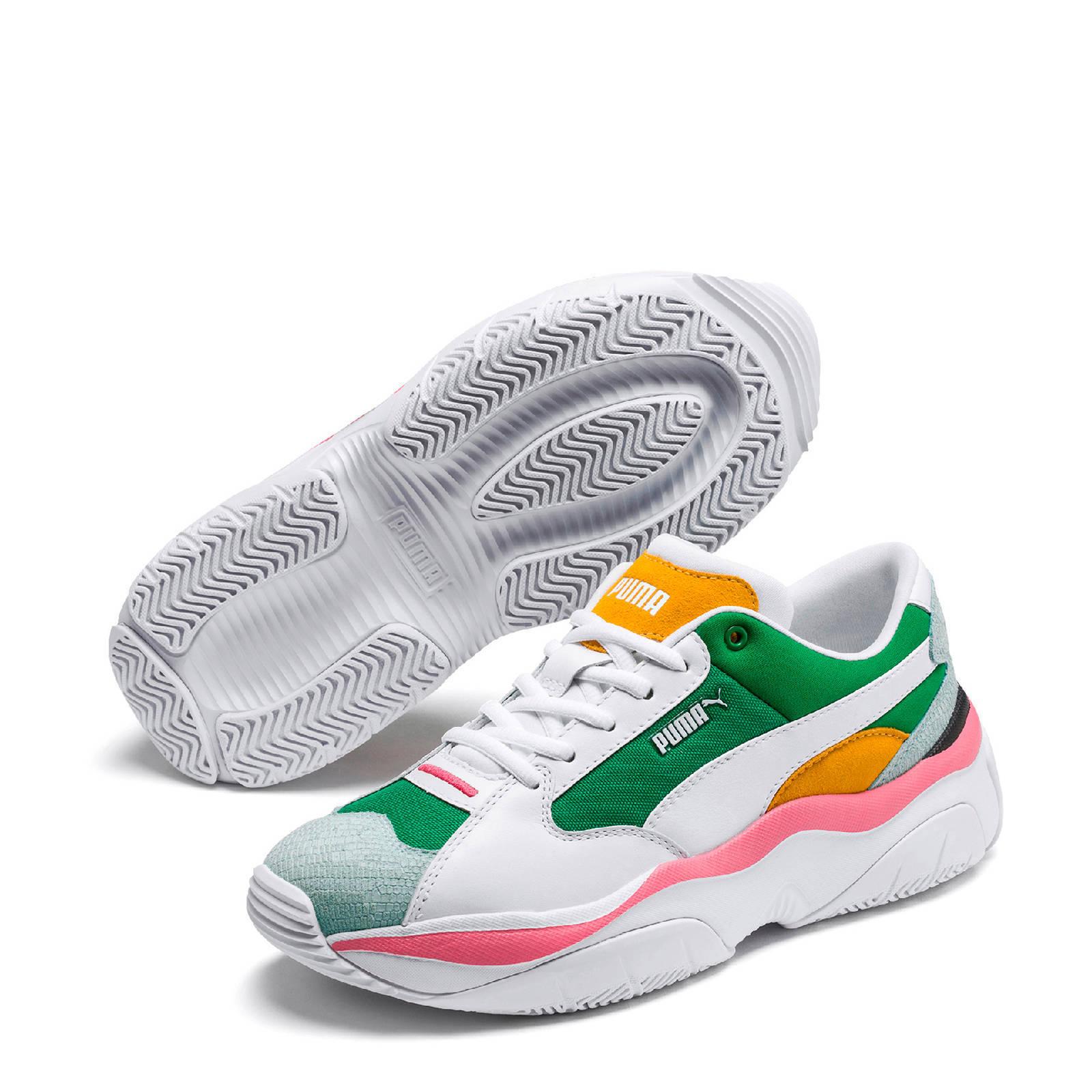 Puma Storm.Y Colour Block sneakers wit/groen/roze/oranje ...