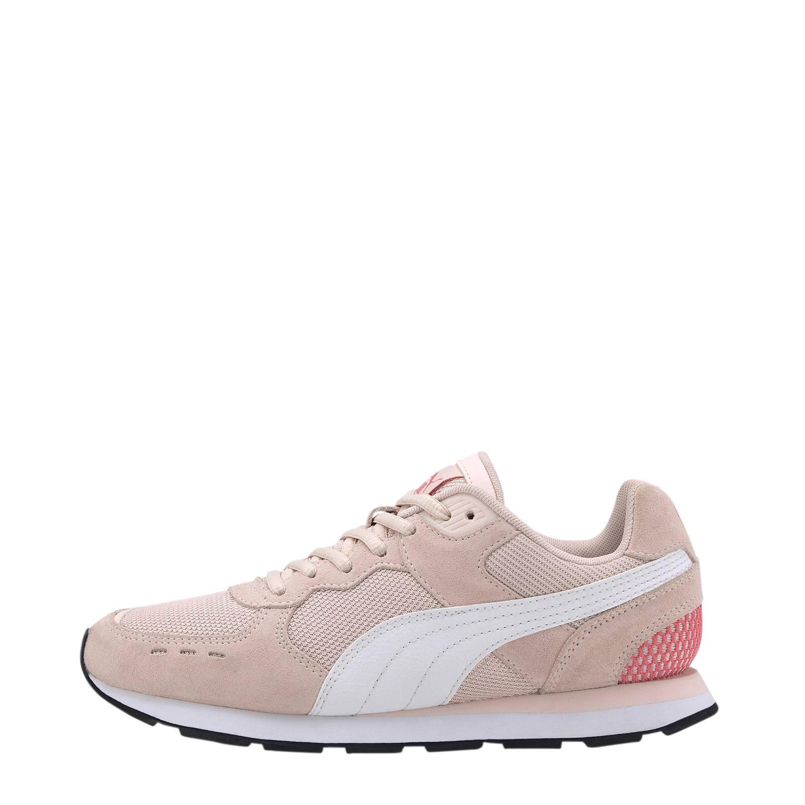 Puma Vista suède sneakers beige/roze | wehkamp