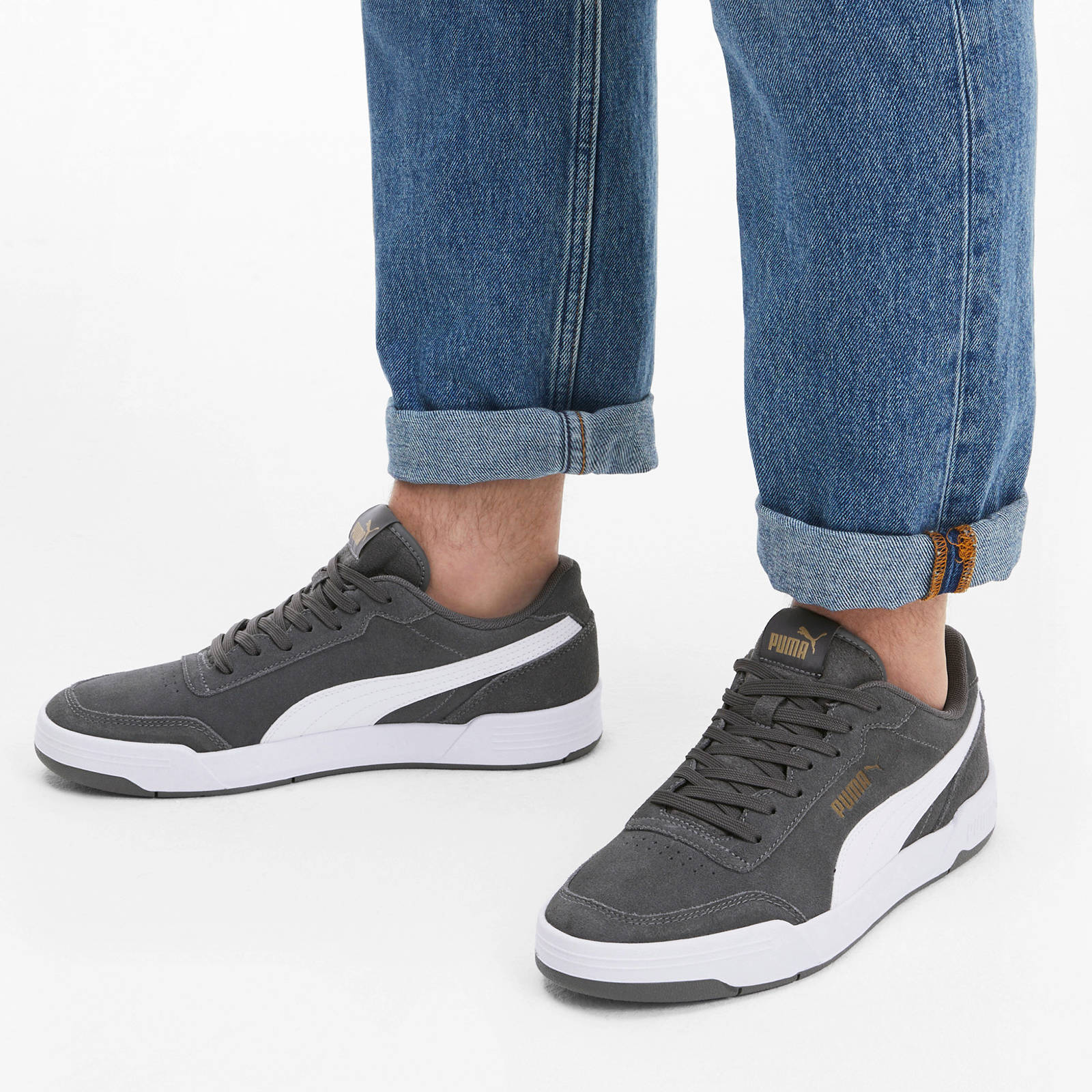 Puma Caracal SD suède sneakers grijs   wehkamp