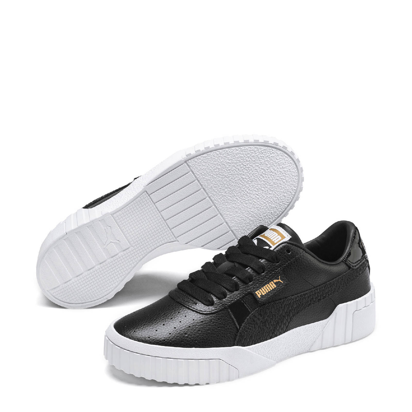 Puma Cali Snake sneakers zwart/goud | wehkamp
