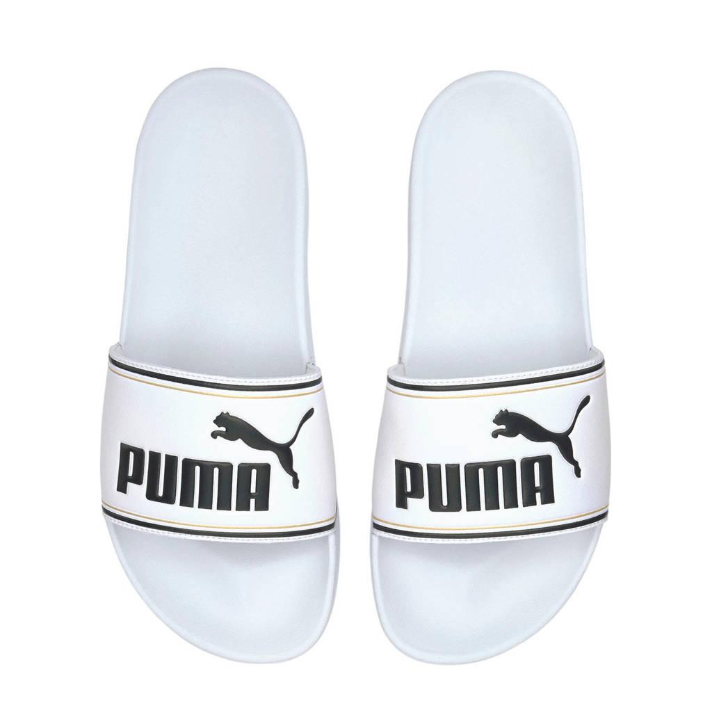 Puma Leadcat  badslippers wit/zwart, Wit/zwart