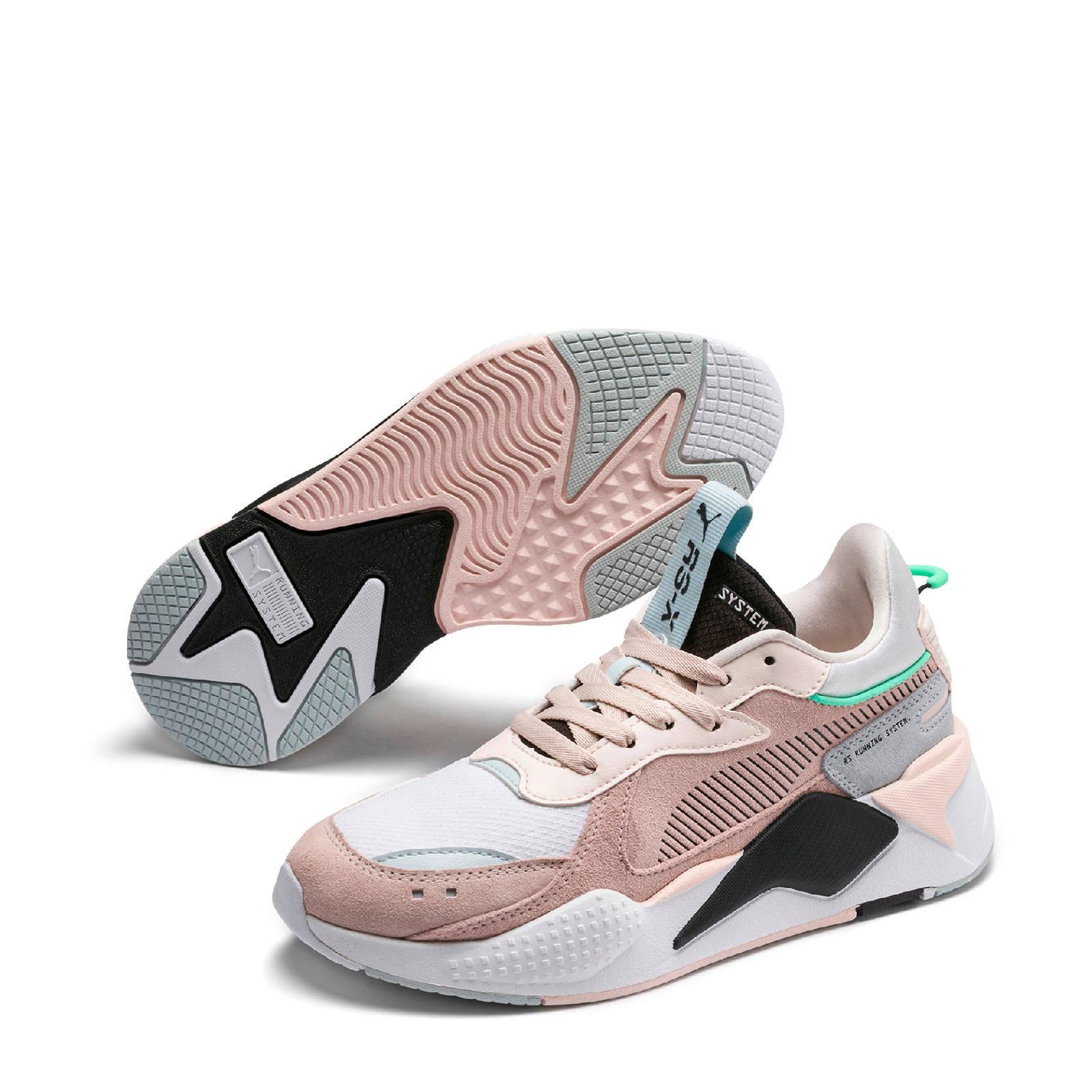 Puma RS-X Reinvent suède sneakers oudroze/grijs   wehkamp