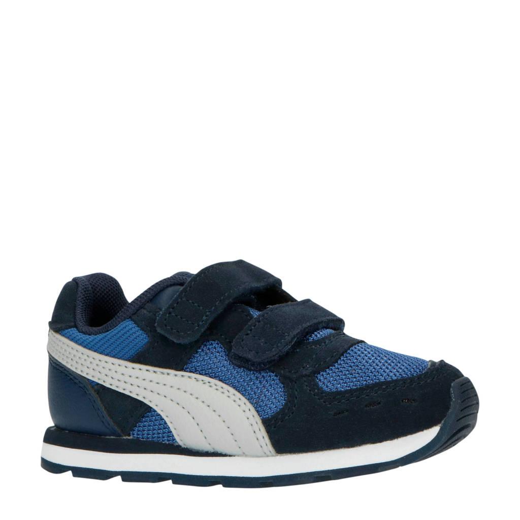 Puma Vista V Inf suède sneakers donkerblauw, Donkerblauw/wit