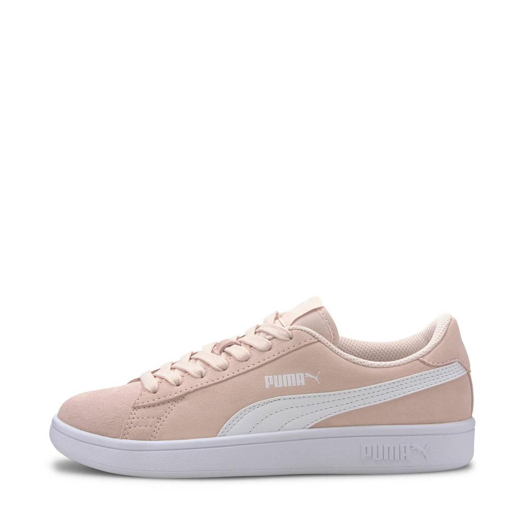 Puma Smash V2 SD Jr sneakers lichtroze/wit, Lichtroze/wit