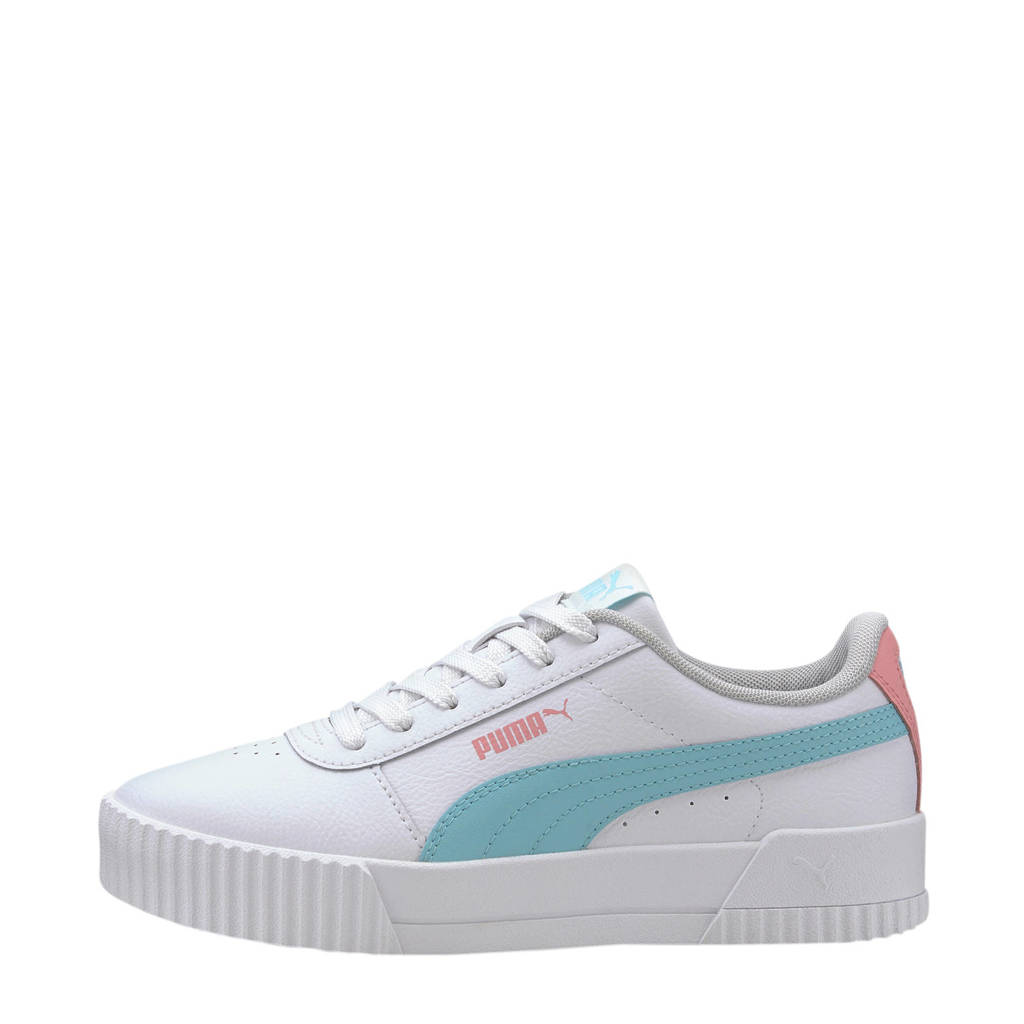 Puma Carina L Jr sneakers wit/blauw/roze, Wit/blauw/roze