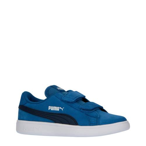Puma Smash v2 SD V PS su??de sneakers kobaltblauw