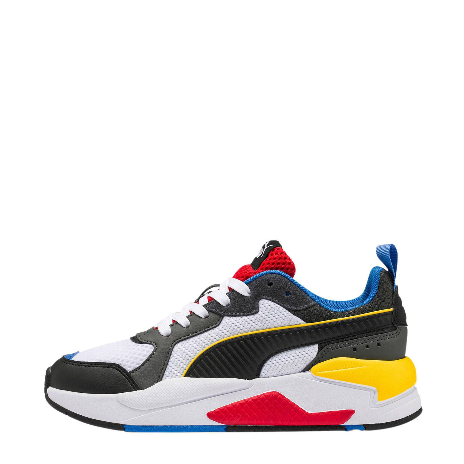 Puma X-Ray Jr sneakers wit/zwart/geel   wehkamp