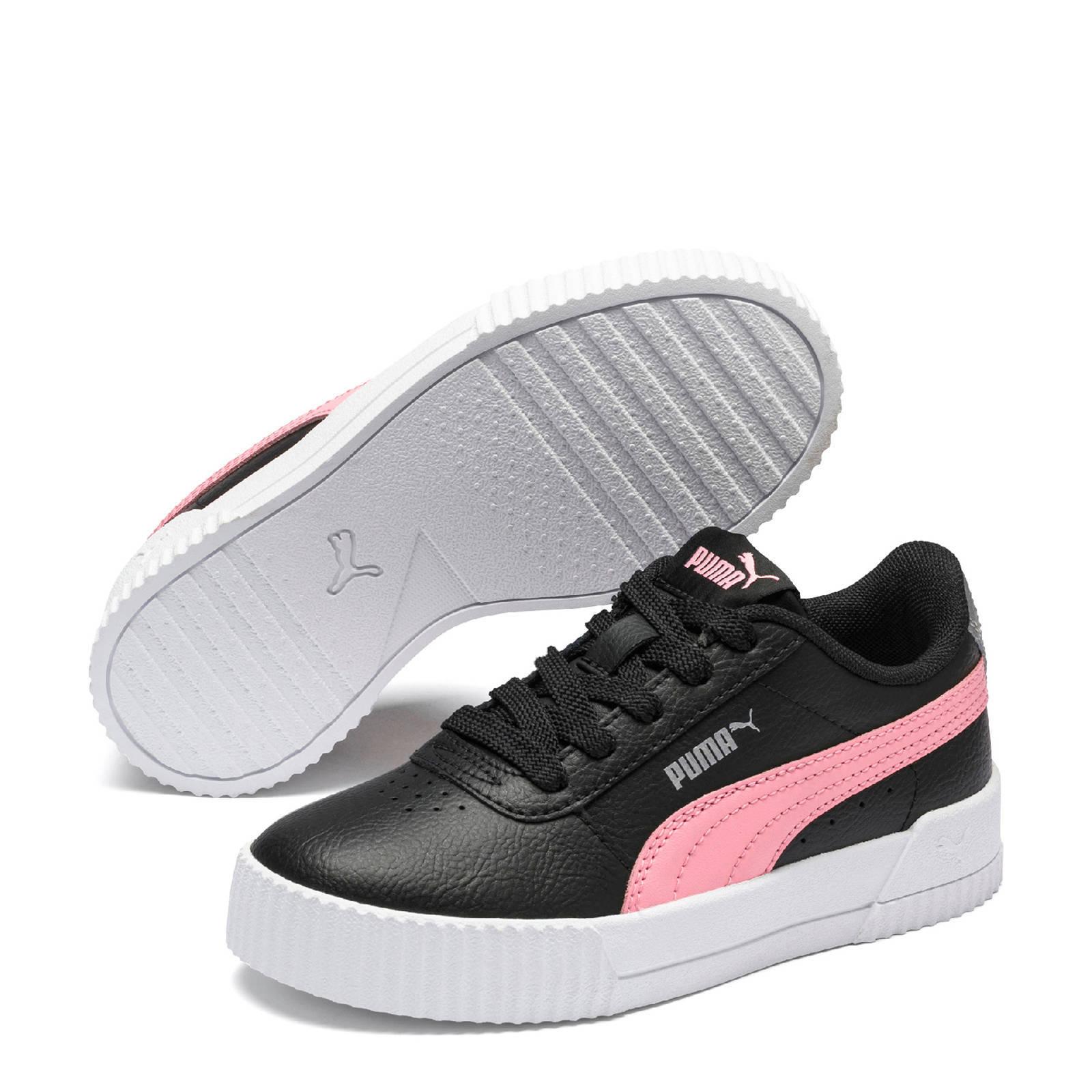 Puma Carina L PS sneakers zwart/roze/zilver | wehkamp