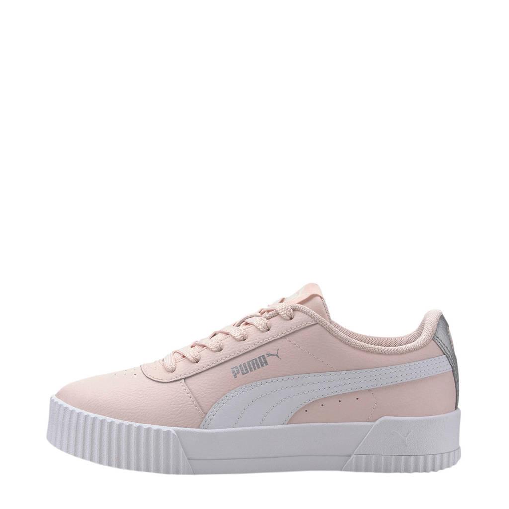 Puma Carina L Jr sneakers roze/wit/zilver, Lichtroze/wit/zilver