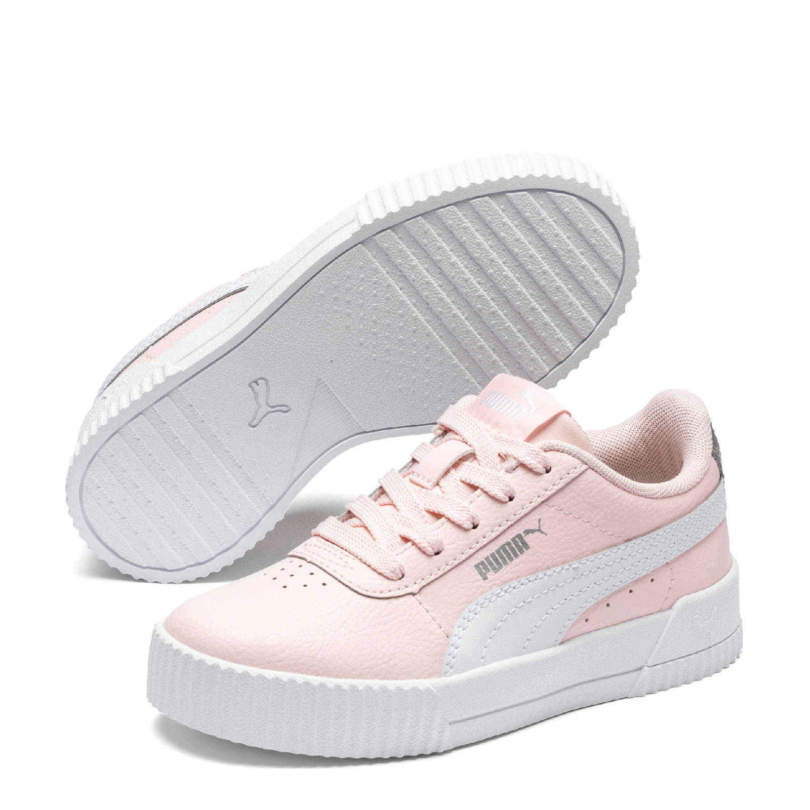 Puma Carina L PS sneakers roze/wit/zilver | wehkamp