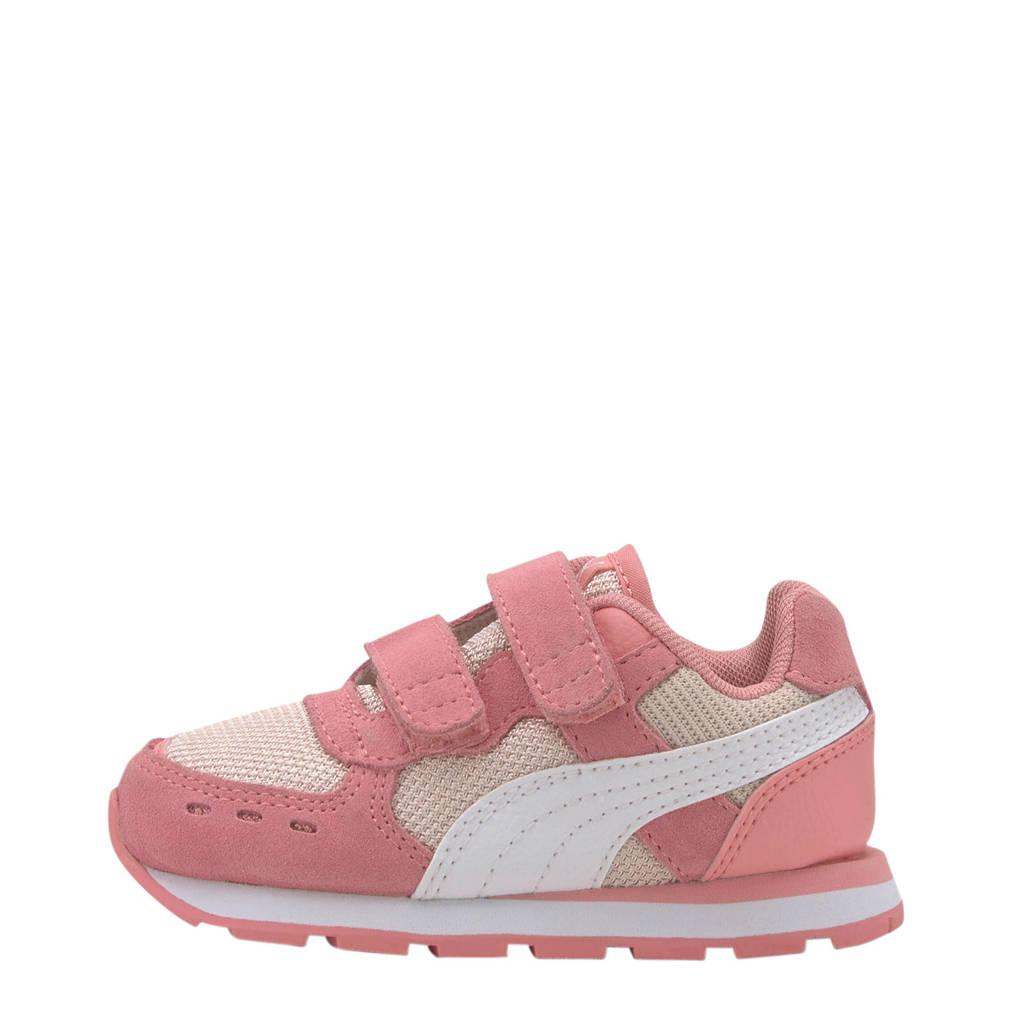 Puma Vista V Inf suède sneakers roze/wit, Roze/wit