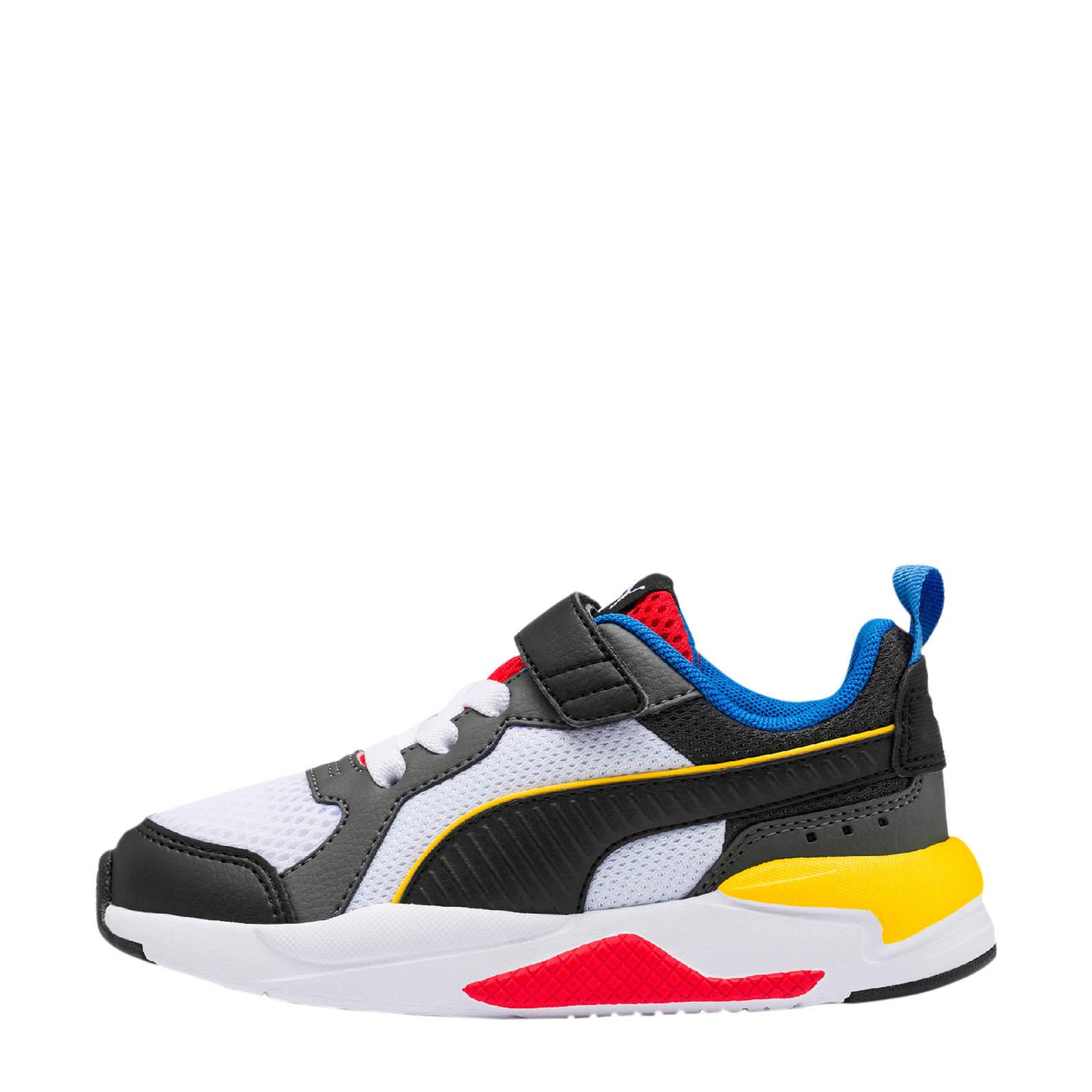 Puma X-Ray AC PS sneakers wit/zwart/rood/geel | wehkamp