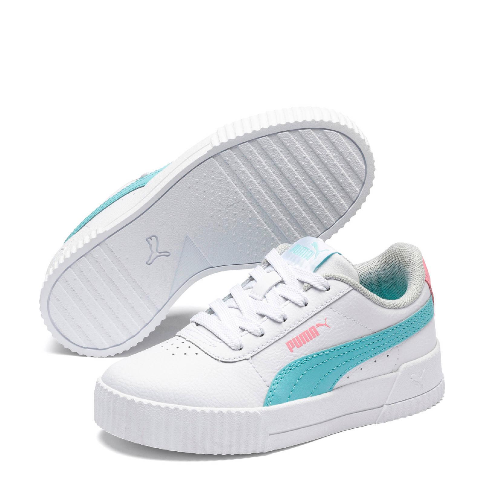 Puma Carina L PS sneakers wit/blauw/roze | wehkamp