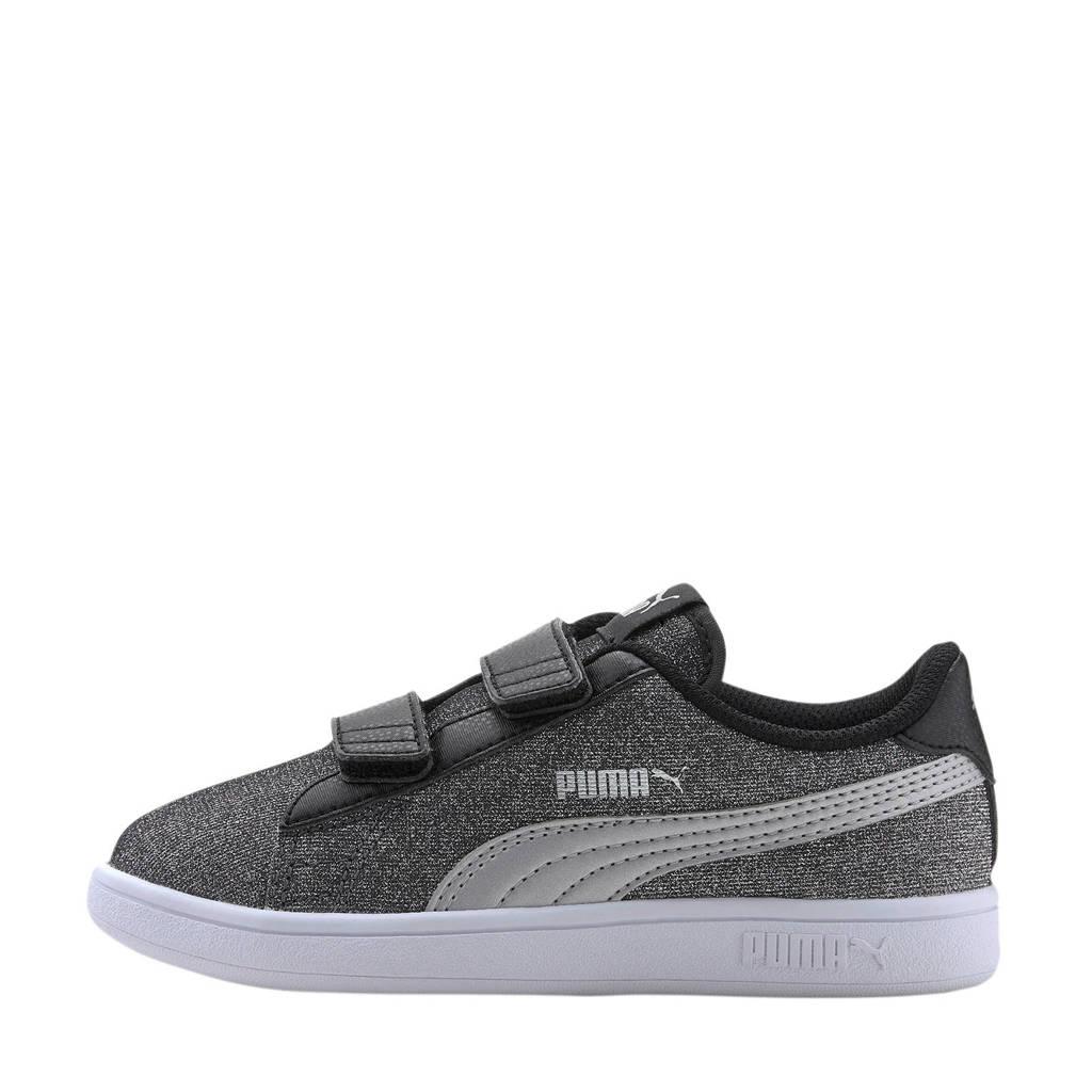 Puma Smash v2 Glitz Glam V PS sneakers zwart/zilver, Zwart/zilver