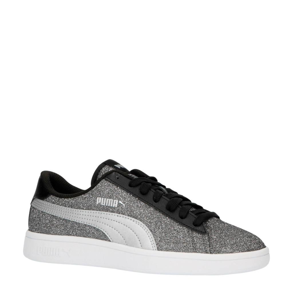 Puma Smash v2 Glitz Glam Jr sneakers zwart/zilver, Zwart/zilver