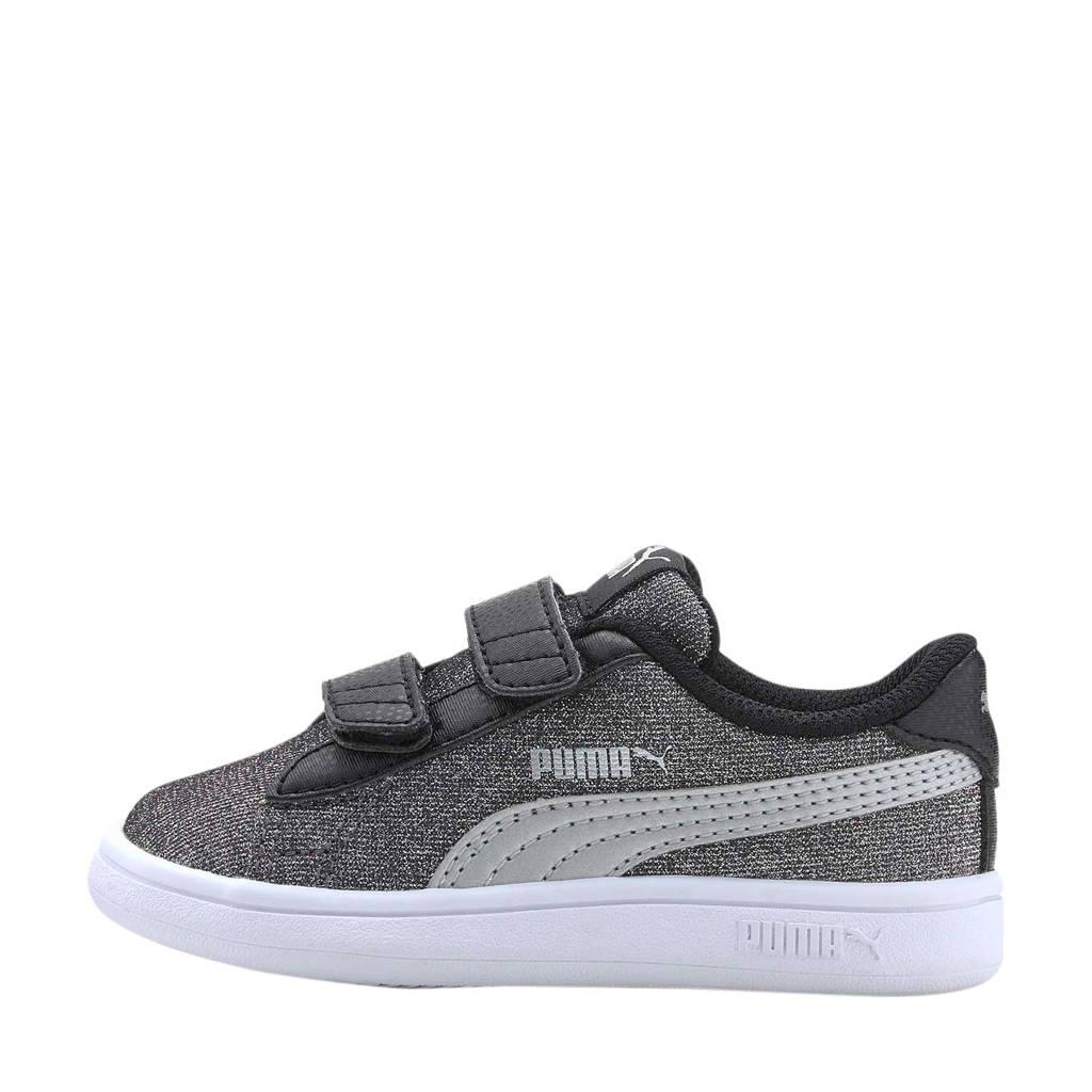 Puma Smash v2 Glitz Glam V Inf sneakers zwart/zilver, Zwart/zilver