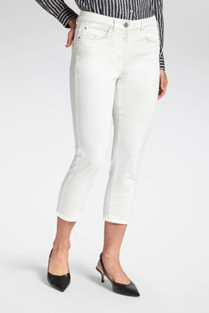 cropped slim fit broek wit