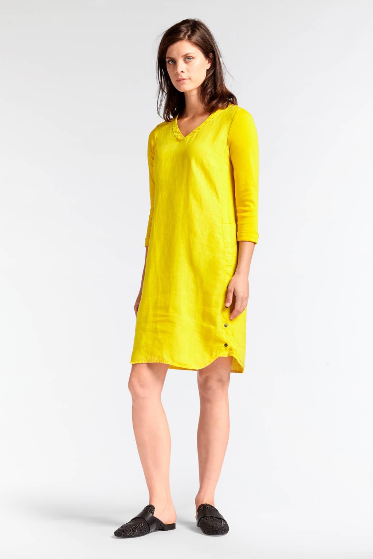 Sandwich jurk geel, Geel