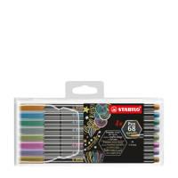 STABILO Pen 68 metallic etui (8 st.), Multicolor