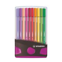 Stabilo Pen 68 ColorParade antraciet/roze (20 st.), Multicolor