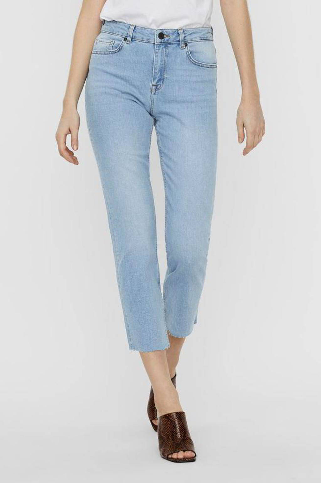 NOISY MAY straight fit jeans NMJENNA light blue denim, Blauw