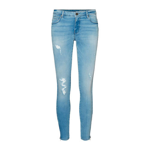 NOISY MAY low waist skinny jeans blauw