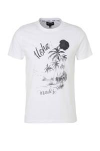 Cars T-shirt met printopdruk wit, Wit