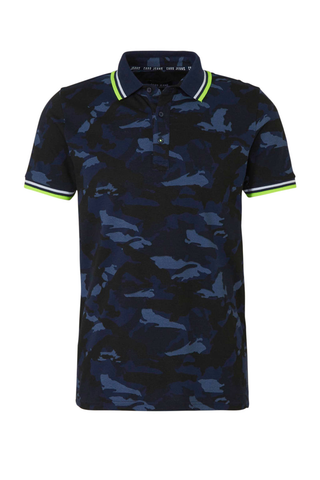 Cars regular fit polo met camouflageprint donkerblauw, Donkerblauw