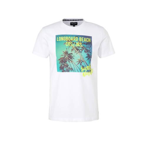 Cars T-shirt met printopdruk wit